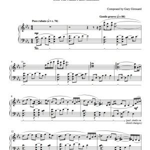 """Awakening"" Solo Piano Sheet Music (from the Naked Piano Elements)"