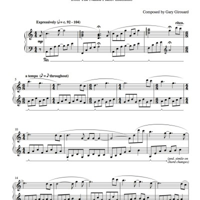 """Dreams"" Solo Piano Sheet Music (from the Naked Piano Elements)"