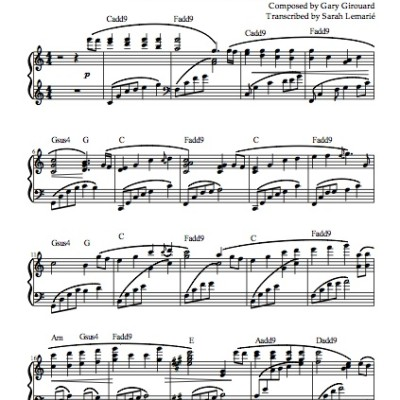 """Lanterns"" Solo Piano Sheet Music (from the Naked Piano Light & Dark)"
