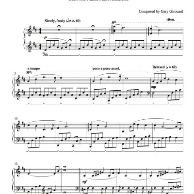"""Miracles"" Solo Piano Sheet Music (from the Naked Piano Elements)"