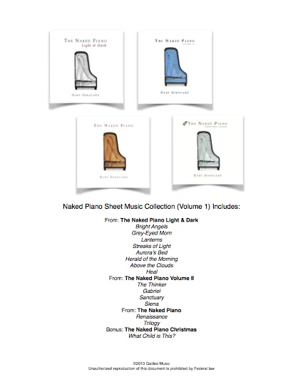Naked Piano Sheet Music Collection - Volume 1 (PDF download)