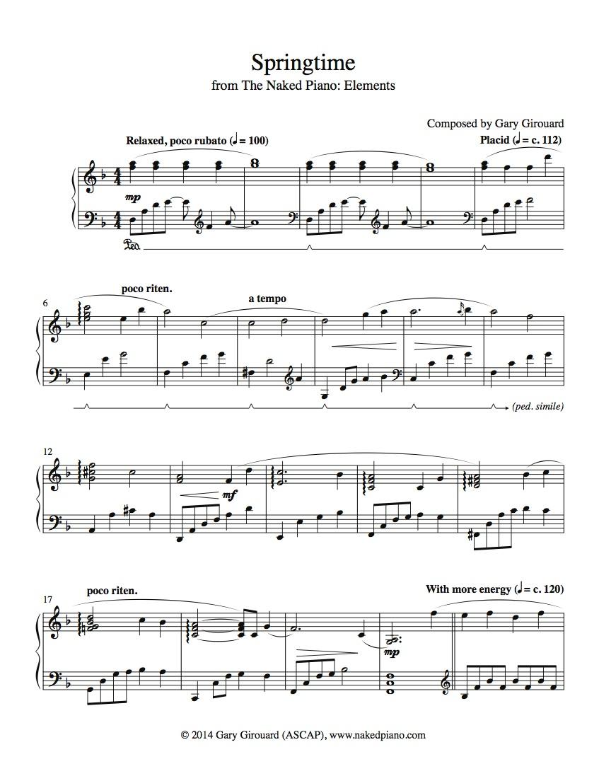 time of the season sheet music pdf