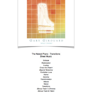 The Naked Piano Transitions Sheet Music Collection