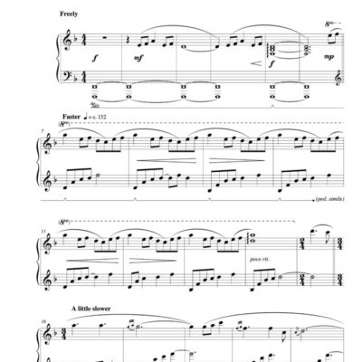 """""""Mountain Mist"""" Solo Piano Sheet Music (from The Naked Piano Volume II)"""